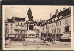 3970. LONS LE SAUNIER  . PLACE DE LA LIBERTE  . RECTO/VERSO.  ANNEE . 1938 .  COMMERCE . QUINCAILLERIE . A LA MENAGERE . - Lons Le Saunier