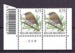BELGIE * Buzin * Nr 3391 Barcode + Pl6 * Postfris Xx * FLUOR  PAPIER - 1985-.. Oiseaux (Buzin)