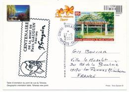 POLYNESIE FRANCAISE - Cachet Commémoratif - Centenaire De La Mort De Paul Gauguin - Mai 2003 Centre Phil. Papeete - Polynésie Française