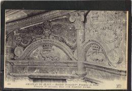 4169. CHATEAU DE  BLOIS . ESCALIER FRANCOIS 1er . FRONTONS  DE PORTE . ND  .  (recto Verso) - Blois