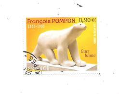 Série Artistique François Pompon N°3806 Oblitéré 2005 - 2010-.. Matasellados