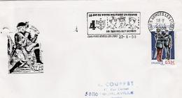 Paris Armées Les Loges 2008 - Flamme 40 Ans De Poste Militaire - Poststempel (Briefe)