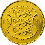 Monnaie, Estonia, 75th Anniversary - Bank Of Estonia, 5 Krooni, 1994, SUP - Estonie