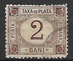 ROUMANIE      -    Timbre - Taxe    -   1881.    Y&T N° 1 Oblitéré - Impuestos