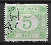 ROUMANIE      -    Timbre - Taxe    -   1887.    Y&T N° 8 Oblitéré - Postage Due