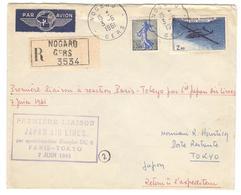 9094 - PARIS  TOKIO 61 - Eerste Vluchten