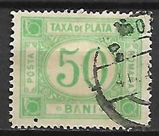 ROUMANIE      -    Timbre - Taxe    -   1908.    Y&T N° 31 Oblitéré - Impuestos
