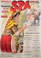 Belgian Travel Postcard Spa Casino 1900 - Reproduction - Advertising