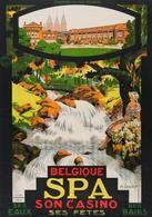 Belgian Travel Postcard Spa Casino 1928 - Reproduction - Advertising