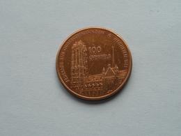 MECHELEN ( 100 Griffels ) N.C.O.V. - 25 Jaar ( Bronskleur - Details, Zie Foto ) 1981 ! - Jetons De Communes