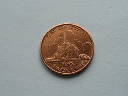NOSSEGEM ( Sint Lambertus ) 100 NOSCOEMENEER : Postzegelclub - 1982 ( Bronskleur - Details, Zie Foto ) - Jetons De Communes
