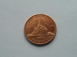 NOSSEGEM ( Sint Lambertus ) 100 NOSCOEMENEER : Postzegelclub - 1982 ( Bronskleur - Details, Zie Foto ) - Fichas De Municipios