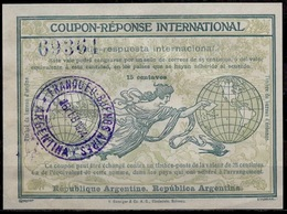 ARGENTINA Rome Type IV 15 Centavos International Reply Coupon Reponse Respuesta Antwortschein IAS O BUENOS AIRES 16.2.24 - Ganzsachen