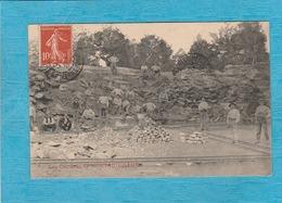 Les Carrière De Montaiguillon, 1907. - Les Ouvriers. - Autres Communes