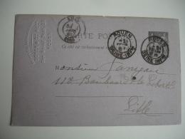 Daguin Double Jumele Rouen Obliteration Entier Postal Droguerie Soyer - Poststempel (Briefe)