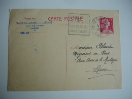 Daguin Notre Dame De Liesse La Fontaine Chateau Marchais Flamme Sur Lettre - Poststempel (Briefe)