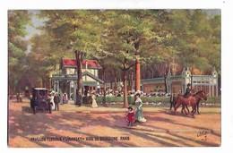 "Illustration    - Pavilion Tyrolien  "" Lisansky ""  Bois Du Boulogne   ( Par Jour )."" Tuck -  ""  Oilette "" - Parks, Gardens"