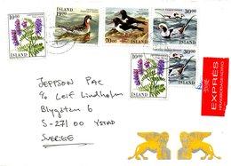ISLANDE. Belle Enveloppe Ayant Circulé En 1989. - 1944-... Republique