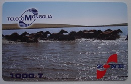 MONGOLIA PREPAID PHONECARD USED - 1. NICE PICTURE! - Mongolia