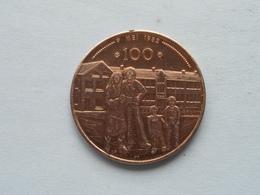 Nat. Conf. OUDERVERENIGINGEN ( 100 ) 1982 - 25 Jaar ( Metaalkleur - Details, Zie Foto ) 35 Mm. ! - Tokens Of Communes
