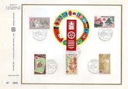 """"""" EXPOSITION UNIVERSELLE D'OSAKA """" Sur Feuillet CEF 1er Jour De 1970 De MONACO. N° YT 822 à 826. Parfait état. FDC - 1970 – Osaka (Japan)"""