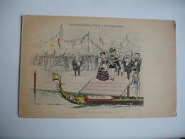 Souverain A L Exposition Illustrateur Humbert 2 Roi Italie Caricature - Expositions