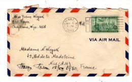 Lettre , ETATS UNIS , CHEYENNE , WYO. , 1950 , 5 Vignettes Au Verso , Voir 2 Scans - Vereinigte Staaten