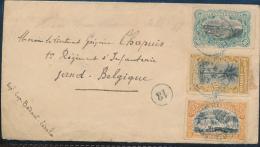 BELGIAN CONGO BELGE AFFRANCHISSEMENT DE LEO. 20.07.1899 VERS GENT - 1894-1923 Mols: Covers