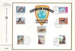 """"""" PROTECTION DES ANIMAUX """" Sur Feuillet CEF 1er Jour De 1970 De MONACO. N° YT 809 à 816. Parfait état. FDC - Briefmarken"""
