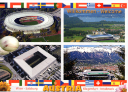 Euro 2008 Wien Innsbruck Salzburg Klagenfurt Cartolina Stadio Postcard Stadion AK Carte Postale Stade Estadio - Calcio