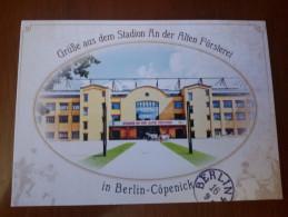 Berlin Berlino Union Alte Forsterei Stadium Cartolina Stadio Postcard Stadion AK Carte Postale Stade Estadio Kopenick - Calcio