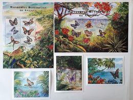 Antigua Barbuda 2000 Mi. Klb.3116-27 + Bl.450-452 ( Butterflies ) [18;143,145] - Timbres