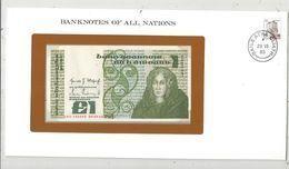 Billet Neuf  , Enveloppe Timbrée Oblitérée , Irlande , Central Bank Of Ireland, 1 Pound, 09-09-82 , Frais Fr : 1.95 Euro - Irlande