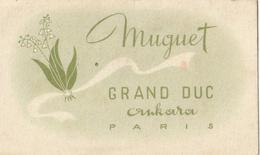 Carte Parfumée - MUGUET - Grand Duc  Ankara Paris - Parfumkaarten