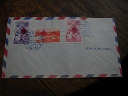 Haiti 1958 Croix Rouge Fdc Enveloppe 1 Er Jour - Haiti