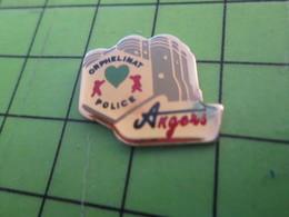 1018A Pin's Pins / Belle Qualité Et TB état !!!! : THEME POLICE / ORPHELINAT DE LA POLICE ANGERS - Police