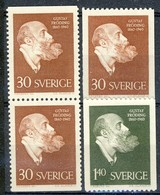 +B1516. Sweden 1960. Fröding. Michel 461-62. MH(*) - Nuevos