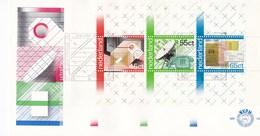 Nederland - FDC - 100 Jaar PTT-diensten - Pakketpost/openbare Telefonie/Rijkspostspaarbank - NVPH E192a - Post