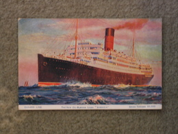 CUNARD LINE SAMARIA ART CARD BY ROSENVINGE - Steamers