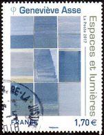 Oblitération Cachet à Date Sur Timbre De France N° 5189 - Quadrichromie Oeuvre De Genevièvre Asse, Espaces Et Lumières - France