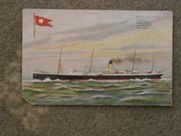 WHITE STAR LINE SUEVIC ART CARD - Steamers