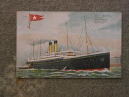 WHITE STAR LINE ADRIATIC ART CARD - Steamers