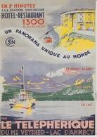 18/10/435  -  C. P. M.   - LE  THÉLÉPHERIQUE  DU.   MONT  VEYRIER - Annecy