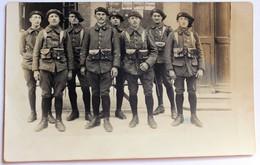 Belle Carte Photo 22 BCA Bataillon Chasseurs Alpins 8 Soldats Albertville ? - Régiments