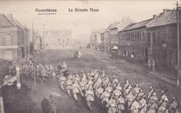 Alte Ansichtskarte Aus Courrières -La Grande Place- - Other Municipalities