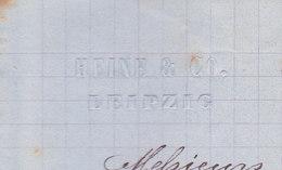 Leipzig, Heine & Co, Recette Pour La Fabrication Du 3/6 Cognac 1881 - Allemagne