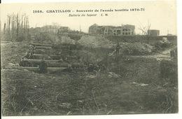 51 - CHATILLON / SOUVENIR DE L'ANNEE TERRIBLE 1870-71 - BATTERIE D'UN SAPEUR - Francia