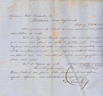 Leipzig, Heine & Co, Envoi échantillon Essence De Cognac Et De Rhum, 1881 - Allemagne