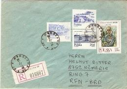 Pologne 1986 - 2 Lettres Recommandées De Varsovie à Mömbris, Allemagne Fédérale - 1944-.... République