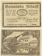 Altaist Bei Ried In Der Riedmark, 1 Schein Notgeld 1920, Österreich 10 Heller - Oesterreich